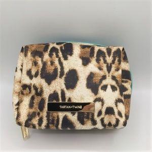Tartan Twine Cosmetic Bag Leopard Print